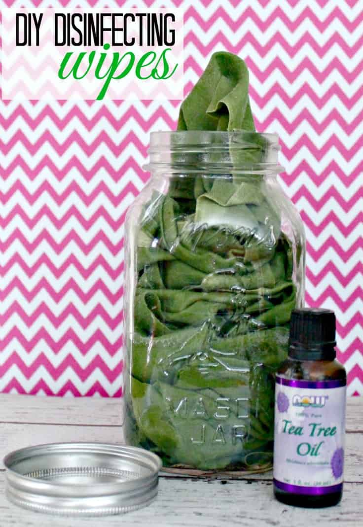 DIY Disinfecting Wipes with Tea Tree Oil